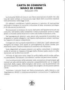 Carta di comunità Masci Como 1994