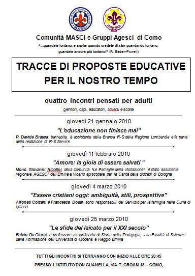tracce di proposte educative 2010
